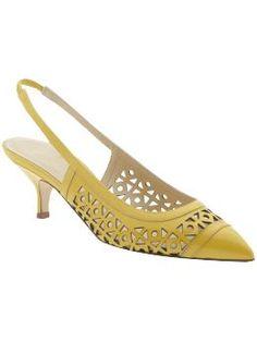 Kate Spade-Yellow kitten heel shoes...yes please