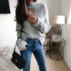 Simple new season layering with the Popcorn Jumper, worn by tijanserena. Browse knitwear