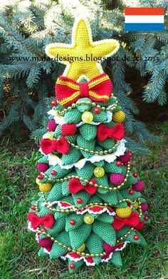 paid pattern, in german Kerstboom, herrmanntanne - nederland patroon van mala designs op DaWanda.com