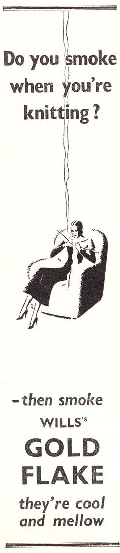 Knitting and smoking