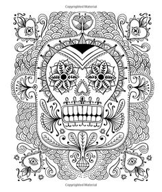 24 Best Skull Zentangle Coloring Images On Pinterest