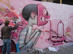 Paris, Maubeuge, street-art, palisades, fresques, turbo design, french-kiss by Seth