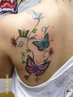 Butterfly Tattoo 1 - Butterfly Tattoo 1 You are in the right place about tattoo for guys Here we offer you the most beau - Vine Tattoos, Sexy Tattoos, Unique Tattoos, Flower Tattoos, Body Art Tattoos, Small Tattoos, Sleeve Tattoos, Cool Tattoos, Tatoos