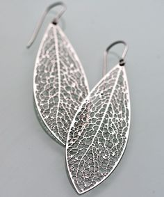 Reticulate 3D-Printing Stainless Steel Earrings