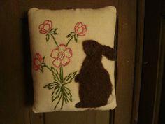 Primitive Rabbit Pillow/Pinkeep