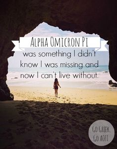 Alpha Omicron Pi was something I didn't know I was missing and now I can't live without.