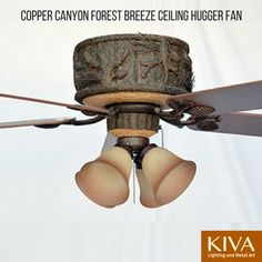 Our popular Copper Canyon Forest Breeze Ceiling Hugger Fan is now available as a ceiling hugger model for rooms with limited ceiling clearance. Cabin Lighting, Rustic Lighting, Painted Pinecones, Home Renovation, Beautiful Hands, Metal Art, Ceiling Fan, Breeze, Home Improvement