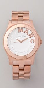Marc Jacobs Rose Gold Watch..love the rose gold and white letters. Best wrist accesorie I have found :)!