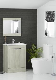 Tide is one of our new modular units, and it has a unique design. The routered handle is easy to use and gives the unit a really modern look. Match it with a Silver Elm mirror and one of our close coupled WCs for a contemporary look.