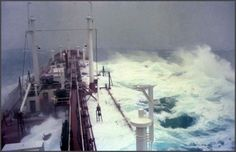 vintage everyday: Ship in a storm 1977