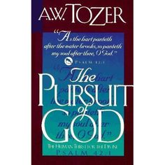 During a train trip from Chicago to Texas in the late 1940s, A.W. Tozer began to write The Pursuit of God. He wrote all night, and when t...