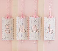 Ribbon Tin Letters