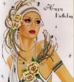 Art Deco card beautiful!