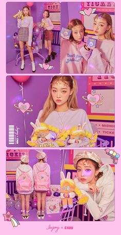 Ice Cream Cherry Asian Style Young Style korean style street style outfit so cute Japan Fashion, Kawaii Fashion, Cute Fashion, Fashion Outfits, Harajuku, Moda Fashion, Looks Cool, Sweet Girls, Ulzzang Girl