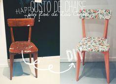 Chez Zoé, nous avons particulièrement été sous le charme de ses chaises d'écoliers recouvertes de papier peint vintage et de la chaise présente dans la chambre de la petite Olya, une chaise toute simple mais qui, revisitée par Zoé, prenait une toute autre dimension.