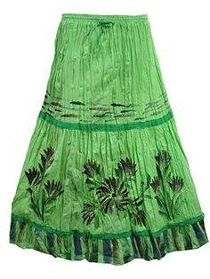 Indian Maxi Skirt- Boho Vintage Skirts Floral Printed Green Peasant Long Skirt Mogul Interior http://www.amazon.com/dp/B00Y2AQE8G/ref=cm_sw_r_pi_dp_T.Vxvb1DT9WFD
