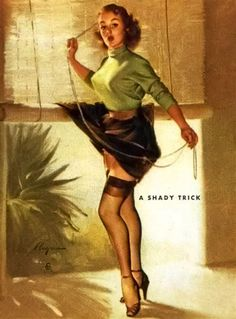 Gil Elvgren - A Shady Trick, 1953.