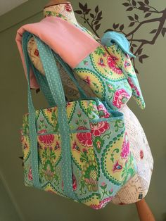 Watermelon Wishes Custom Diaper Bag Set by WatermelonWishes