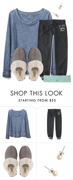 """""""Comfy and watching Home Alone"""" by flroasburn ❤ liked on Polyvore featuring Gap, Aéropostale, UGG and J.Crew"""