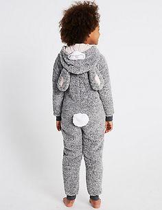 Bunny Hooded Onesie (1-16 Years) | M&S