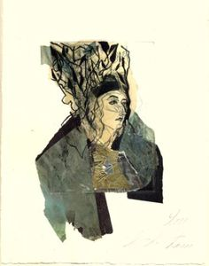 "Saatchi Art Artist Ute Rathmann; Printmaking, ""Hommage à Beardsley V"" #art"