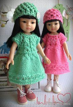 Платья, шапки.. шапки?! шапочки / Paola Reina, Antonio Juan и другие испанские куклы / Бэйбики. Куклы фото. Одежда для кукол
