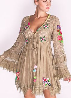 Nice 47 Shabby Chic Fashion Outfit Ideas For Spring Look Boho Chic, Looks Chic, Boho Fashion, Fashion Outfits, Fashion Ideas, Fashion Styles, Casual Dresses, Short Dresses, Mode Hippie