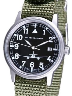 Messerschmitt 38mm Steel Case Aviator Watch ME262S: Watches: Amazon.com