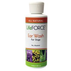 LifeFORCE Natural Ear Wash for Dogs Dog Ear Wash, Pet Health, Dog Cat, Alcohol, Pets, Natural, Animals, Rubbing Alcohol, Liquor