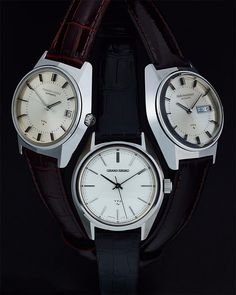 of vintage Grand Seiko. Examples of the three major VFA movements - and I say major, because in the instance of the there were Watch Companies, Seiko Watches, Photo Instagram, Vintage Watches, Photos, Quartz, Accessories, Wristwatches, Pictures
