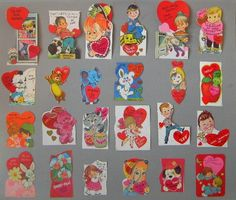 70's vintage valentines | 24 Vintage 1960s70s Valentine cards by ARTchaeology on Etsy
