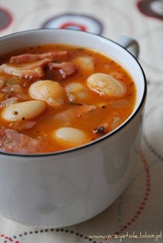 Fasolka po bretońsku - My WordPress Website Lunch Recipes, Soup Recipes, Great Recipes, Cooking Recipes, My Favorite Food, Favorite Recipes, I Want Food, Polish Recipes, Polish Food