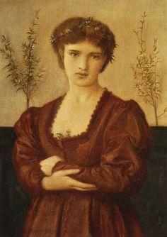 Simeon Solomon, English Pre-Raphaelite Painter, 1840-1905 Beatrice