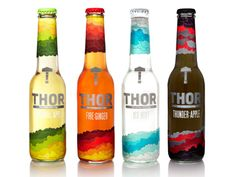 Radim Malinic Art direction and design for new brand of soft drinks - Thor [Released in November 2012]