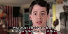 My name is Ferris Bueller and I'd like to issue a formal apology for my behavior as a former teen role model for white privilege. In the past, I bl. Day Off Quotes, Tv Quotes, Movie Quotes, Funny Quotes, Quotable Quotes, Funny Movies, Great Movies, 80s Movies, Awesome Movies