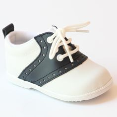 Angel Infant Boys 2342 White Navy Lace Up Oxfords