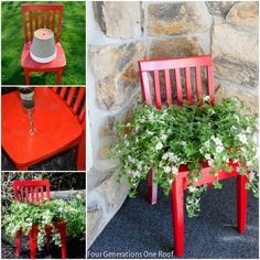 DIY Chair Planter (Mum)