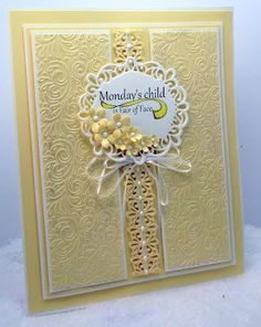Hand Made Greeting Cards, Greeting Cards Handmade, Kids Cards, Baby Cards, Spellbinders Cards, Beautiful Handmade Cards, Pretty Cards, Sympathy Cards, Flower Cards