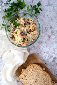This vegan chicken salad recipe is a quick & easy plant based summer recipe for your next vegan sandwich. Make this vegetarian chicken salad with jackfruit and palm hearts. It is gluten free, oil free and whole food plant based friendly. It has the perfect texture & thanks to the homemade chicken broth powder an authentic taste. Best vegan salads to try. Best chicken salad recipe with no chicken instead we are using wholesome & healthy ingredients #veganchickensalad #vegansalad #vegansandwich Vegan Chicken Salad, Best Chicken Salad Recipe, Vegetarian Chicken, Palm Hearts, Best Vegan Salads, Dairy Free Salads, Vegan Sandwich Recipes, Whole Grain Foods, Jackfruit Recipes