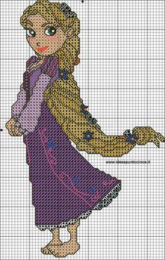ENCANTOS EM PONTO CRUZ: Rapunzel