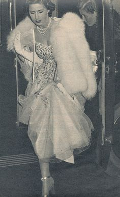 Princess Margaret arriving at a a gala in 1949. Are those Jimmy Choos she's sporting?