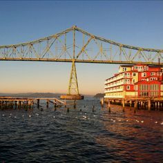 Gorgeous Astoria, OR. Go for the Fisher Poets Gathering every April.