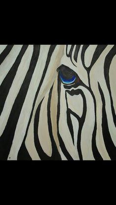 Zebra Painting 100x100