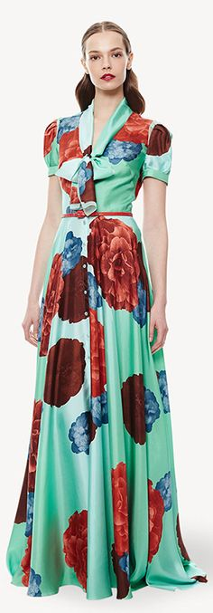 "I especially love the Marsala and turquoise retro print dress from Carolina Herrera's 2015 Resort Collection. Look for Pantone's 2015 Color of the Year, ""Marsala"" refreshing color combination in fashion jewelry, cosmetics, and home décor in the months ahead."