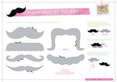 Molde de Mustache Feltro