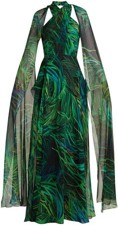ELIE SAAB Twisted-neck silk-georgette gown #eliesaab #gowns