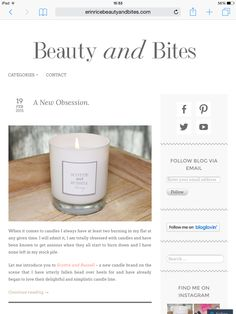 Amazing blog by Erin Rice Beauty and Bites! All about our new range of candles. Scottie, Baby Gifts, Unique Gifts, Things To Come, Rice, Candles, Interior Design, Amazing, Blog
