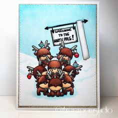"""""""Reindeer pyramid! (Update: Oops! I forgot to include that this is my IG Crafty Crew """"Cute Critter"""" submission. Look at me, submitting on time!) #copic…"""""""