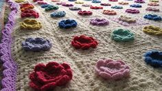 Crochet Flowers in a Granny Crochet Flowers, Kids Rugs, Handmade, Lounge, Bag, Photos, Airport Lounge, Hand Made, Drawing Rooms