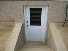 Egress Systems, Inc. provides custom tailored basement walkout design and installation in Pennsylvania. Basement Window Well, Basement Entrance, Basement Windows, Basement House, Basement Apartment, Basement Stairs, Basement Kitchen, Walkout Basement, Basement Ideas
